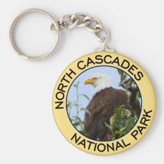 Parque nacional de las cascadas del norte llavero redondo tipo pin