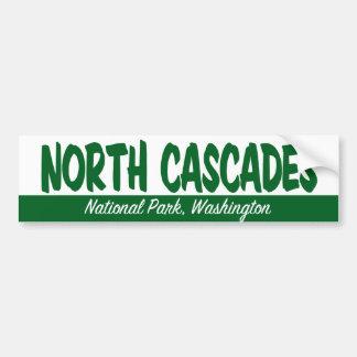 Parque nacional de las cascadas del norte pegatina para auto