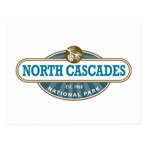 Parque nacional de las cascadas del norte postal