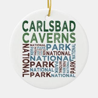 Parque nacional de las cavernas de Carlsbad Adorno Redondo De Cerámica