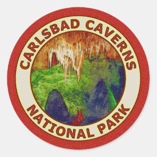 Parque nacional de las cavernas de Carlsbad Pegatina Redonda