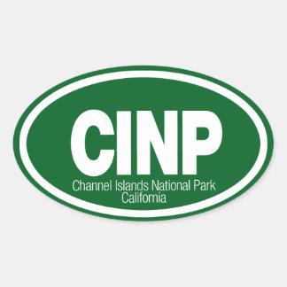 Parque nacional de las Islas del Canal Calcomania Oval
