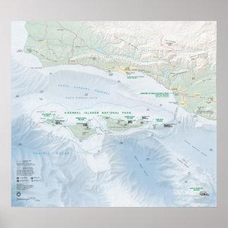 Parque nacional de las Islas del Canal Póster