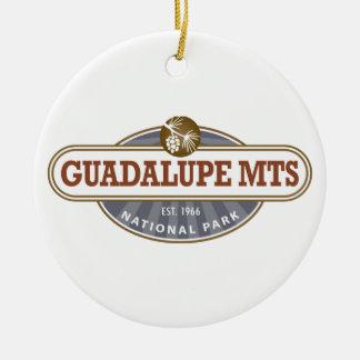 Parque nacional de las montañas de Guadalupe Adorno Redondo De Cerámica