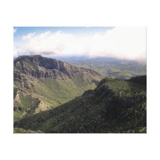 Parque nacional de las montañas de Guadalupe Impresión En Lienzo Estirada