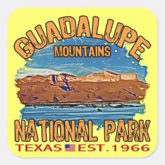 Parque nacional de las montañas de Guadalupe Pegatina Cuadrada