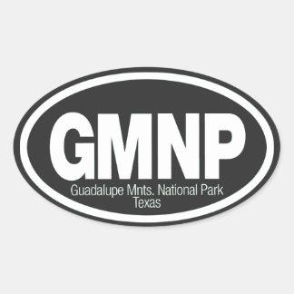 Parque nacional de las montañas de Guadalupe Pegatina Ovalada