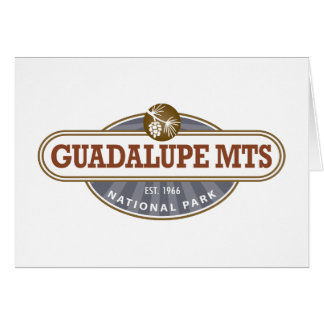 Parque nacional de las montañas de Guadalupe Tarjeta De Felicitación