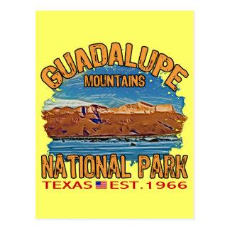 Parque nacional de las montañas de Guadalupe Tarjeta Postal