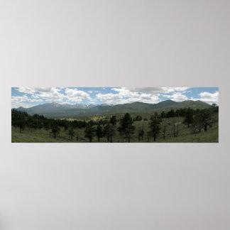 Parque Nacional de las Montañas Rocosas 1 panorámi Póster