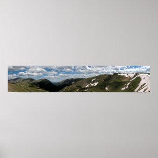 Parque Nacional de las Montañas Rocosas 2 panorámi Póster