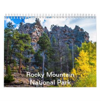 Parque Nacional de las Montañas Rocosas Calendario De Pared