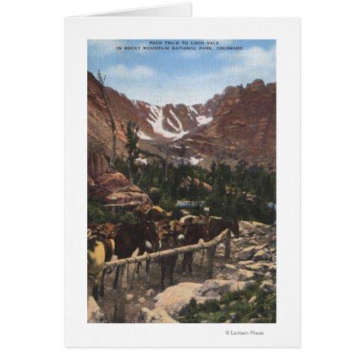 Parque Nacional de las Montañas Rocosas, CO Tarjeta De Felicitación