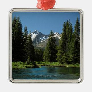 Parque Nacional de las Montañas Rocosas, Colorado Adorno Navideño Cuadrado De Metal