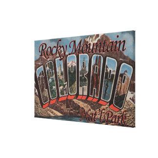 Parque Nacional de las Montañas Rocosas Colorado Lona Envuelta Para Galerias