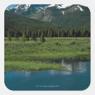 Parque Nacional de las Montañas Rocosas Colorado Calcomanía Cuadrada