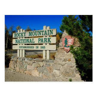 Parque Nacional de las Montañas Rocosas, Colorado Tarjeta Postal