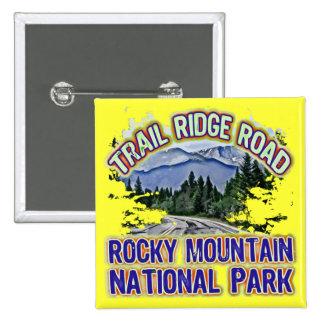 Parque Nacional de las Montañas Rocosas del camino Pin Cuadrada 5 Cm