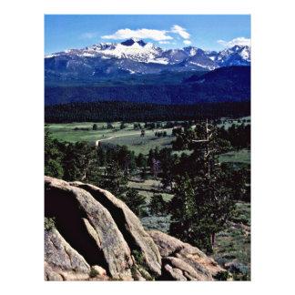 """Parque Nacional de las Montañas Rocosas Folleto 8.5"""" X 11"""""""