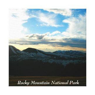 Parque Nacional de las Montañas Rocosas Lienzo Envuelto Para Galerias