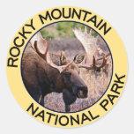 Parque Nacional de las Montañas Rocosas Pegatina Redonda