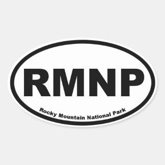 Parque Nacional de las Montañas Rocosas Pegatinas De Oval Personalizadas