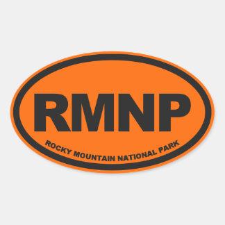 Parque Nacional de las Montañas Rocosas Pegatina Ovalada