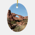 Parque nacional de los arcos, cerca de Moab, Utah, Adorno Navideño Ovalado De Cerámica
