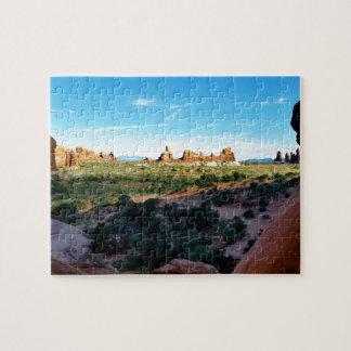 Parque nacional de los arcos de una distancia puzzle