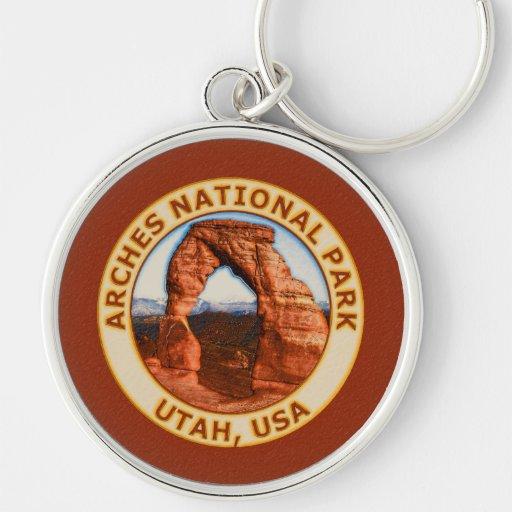 Parque nacional de los arcos llavero personalizado