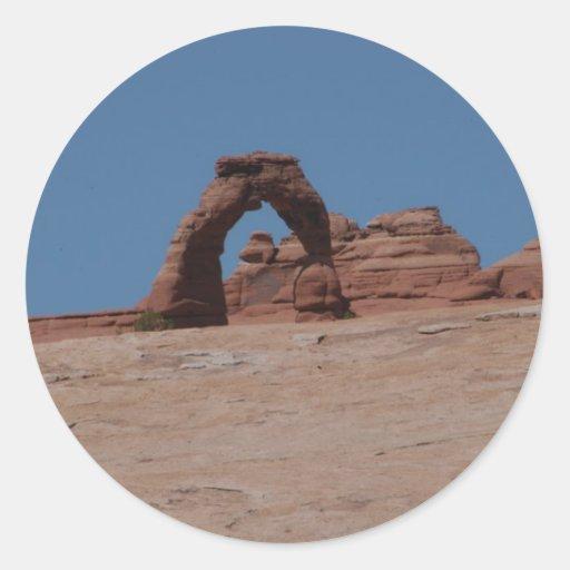 Parque nacional de los arcos pegatina redonda
