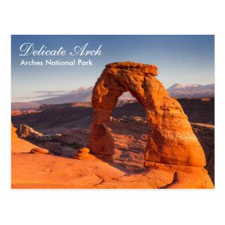 Parque nacional de los arcos - postal delicada del