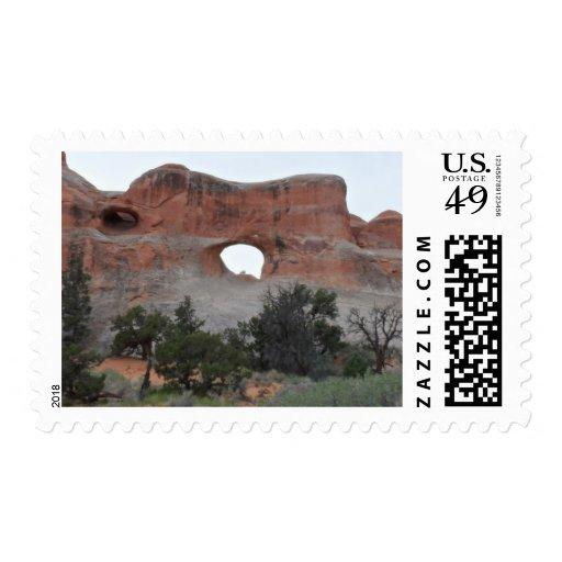 Parque nacional de los arcos sellos postales