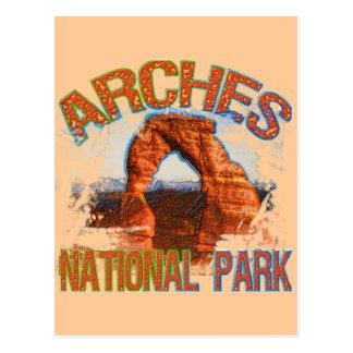 Parque nacional de los arcos tarjetas postales