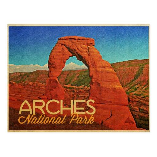 Parque nacional de los arcos postal