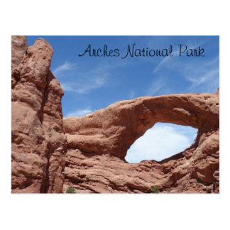 Parque nacional de los arcos tarjeta postal