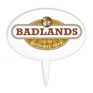 Parque nacional de los Badlands Decoración Para Tarta
