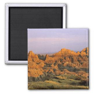 Parque nacional de los Badlands en Dakota del Sur Imán Cuadrado
