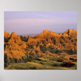 Parque nacional de los Badlands en Dakota del Sur Posters