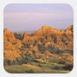 Parque nacional de los Badlands en Dakota del Sur Calcomania Cuadradas Personalizadas