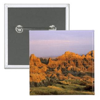 Parque nacional de los Badlands en Dakota del Sur Pin Cuadrado