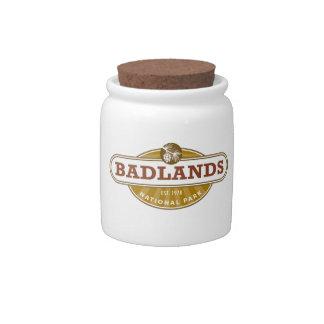 Parque nacional de los Badlands Jarra Para Caramelo
