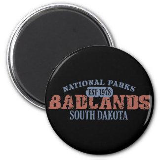 Parque nacional de los Badlands Imán Redondo 5 Cm