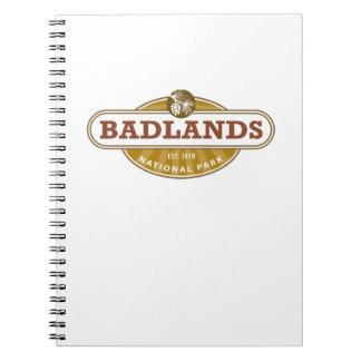 Parque nacional de los Badlands Cuadernos