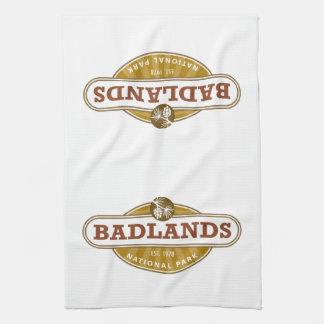 Parque nacional de los Badlands Toalla De Cocina