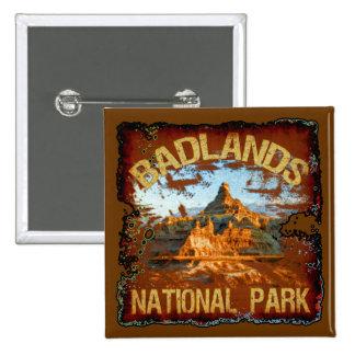 Parque nacional de los Badlands Pin Cuadrado
