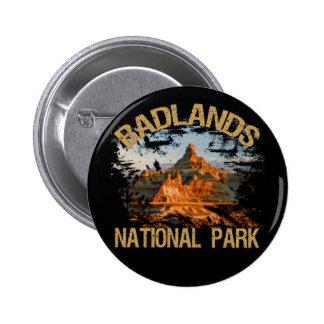 Parque nacional de los Badlands Pin Redondo De 2 Pulgadas