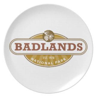 Parque nacional de los Badlands Plato De Cena