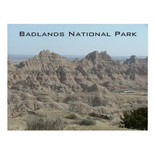 Parque nacional de los Badlands Postales