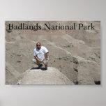Parque nacional de los Badlands Posters